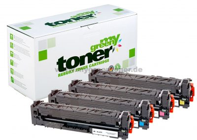Rebuilt toner cartridges for HP Color LaserJet Pro M254, MFP M280